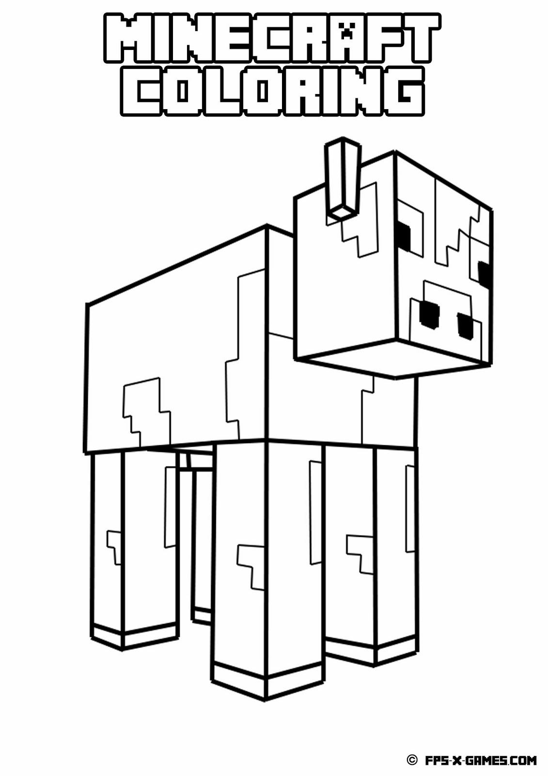 92 Minecraft Coloring Book Online HD