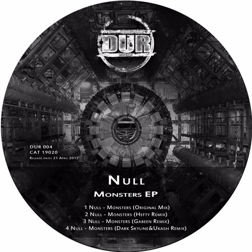 Null - Monsters EP - CAT19020 by Dark Underground Records