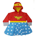 Western Chief Kids Wonder Woman Rain Coat - Red 2T