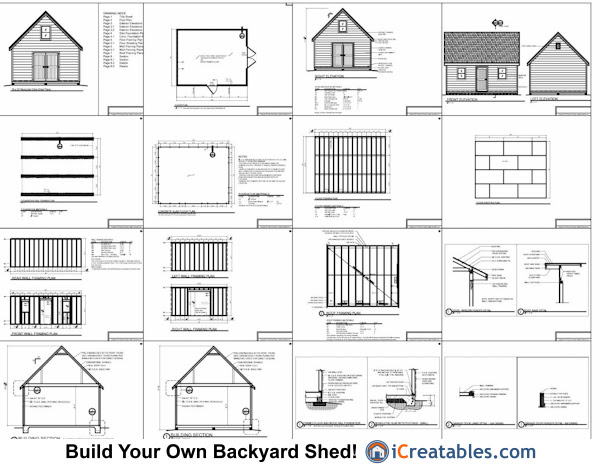 Free Shed Building Plans 16x20 Shed Plans With Loft
