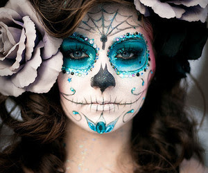 # my crazy world » sugar skull makeup - blue