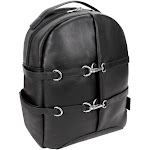 McKlein USA 18795 15 in. U Series Oakland Leather Business Casual Laptop & Tablet Backpack Black