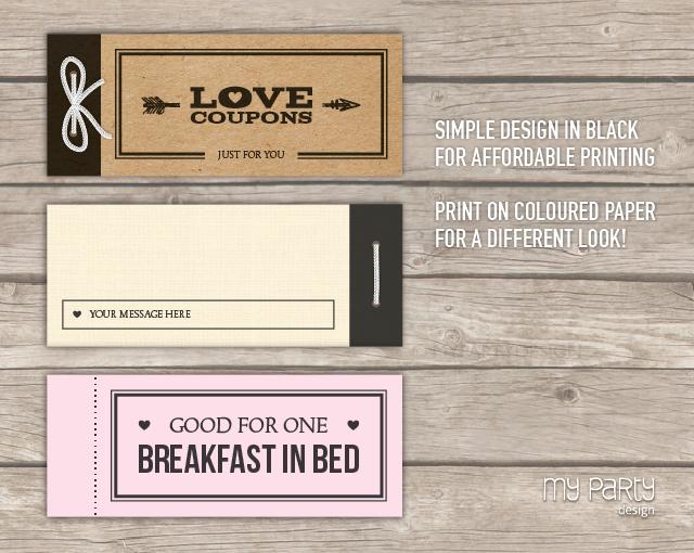 Love Coupon Book - Black Arrow PRINTABLE PDF - My Party Design