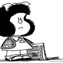 Dibujos Para Colorear Mafalda Con Un Periódico Eshellokidscom