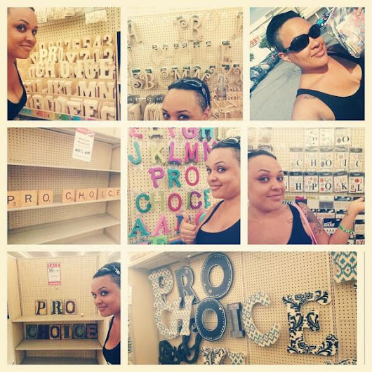 Photos of the Day: Pro-choice decorating at Hobby Lobby