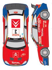 Calcas 1/24 Shunko Models - Citroen Xsara WRC Total Nº 3, 4 - Sebastien Loeb, Carlos Sainz - Rally de Montecarlo 2004 - para kit de Heller 80751 image