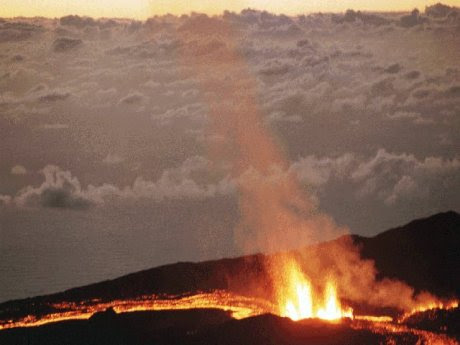 vulkanischer Riss