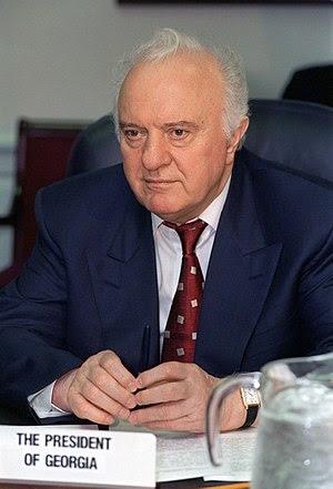 President Eduard Shevardnadze of Georgia photo...