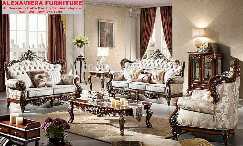 Sofa Ruang Keluarga Terbaru Klasik Modern KT 058 Sofa Ruang Tamu