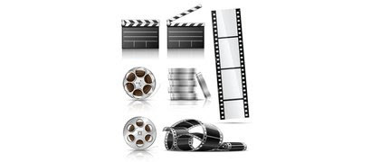 7 Film Reel Clapboard Photography Vector Set - 365psd