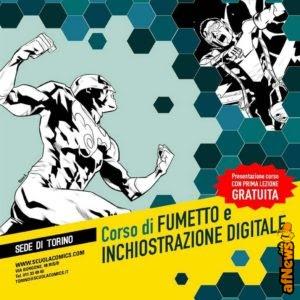 Incontri, workshop e laboratori aperti al pubblico alla Scuola Internazionale di Comics di Torino