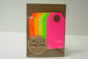 Image of Neon Gift Tags - Parcel Tags Assortment