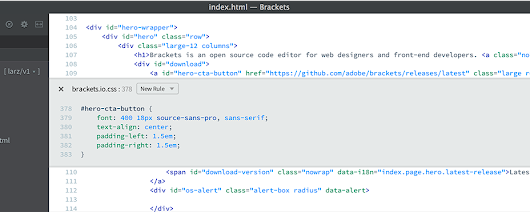 Brackets - A modern, open source code editor that understands web design.