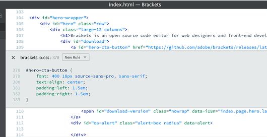 Brackets - The Free, Open Source Code Editor for the Web