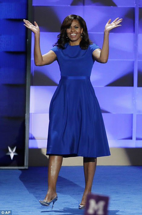 First lady Michelle Obama wowed at the Democratic National Convention in Philadelphia Monday night