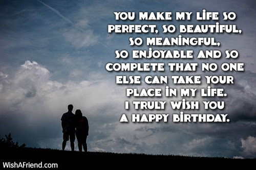 You Make My Life So Perfect Love Birthday Message