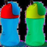 Philips Avent My Bendy Straw Cup, 10 oz, 2-pack, Blue/Red & Green/Lime
