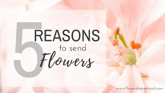 5 Reasons to Send Flowers January '17