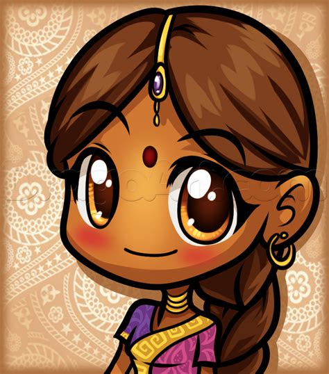 draw  anime indian step  step anime people