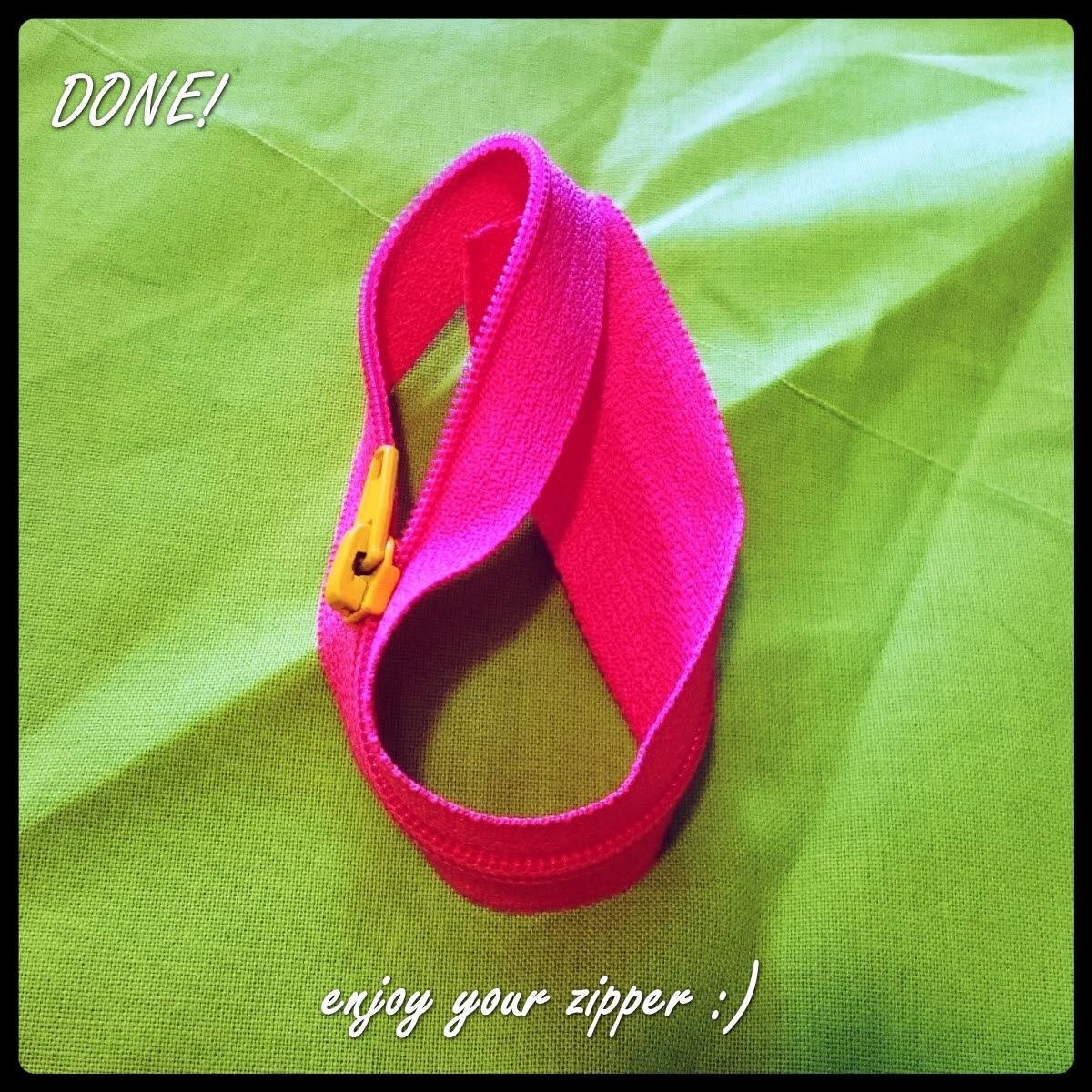 how to put a zipper pull on zipper tape