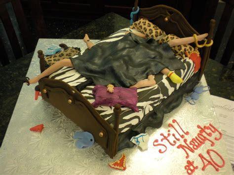 Naughty! 40th Birthday Animal Print Cake   Fun Cakes