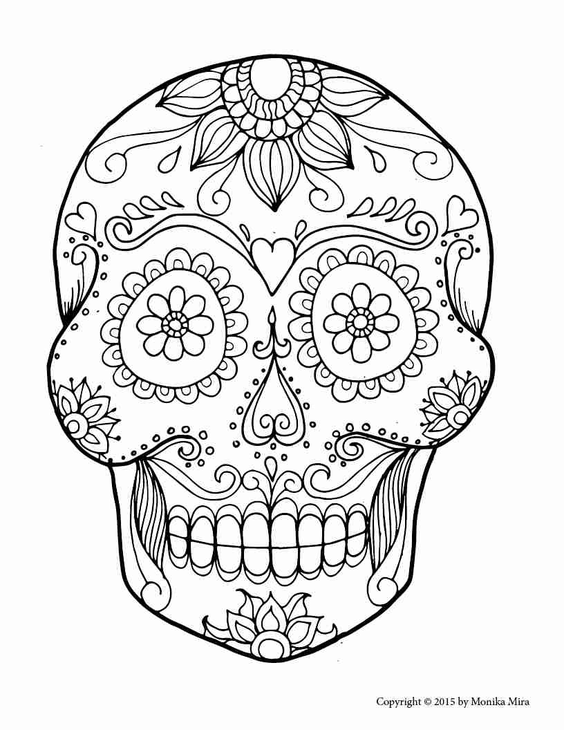 Cool Skull Coloring Pages at GetColorings.com | Free ...