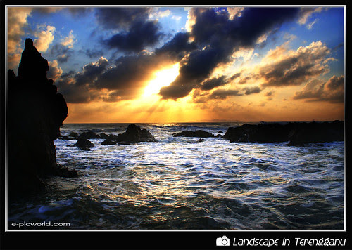 Sunrise at Pandak beach picture