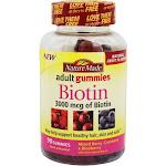 Nature Made Biotin, 3000 mcg, Adult Gummies, Mixed Berry, Cranberry & Blueberry - 90 gummies