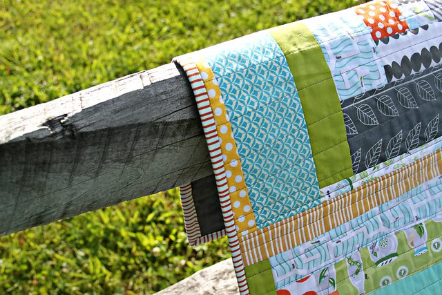 Ant Farm Quilt -- binding