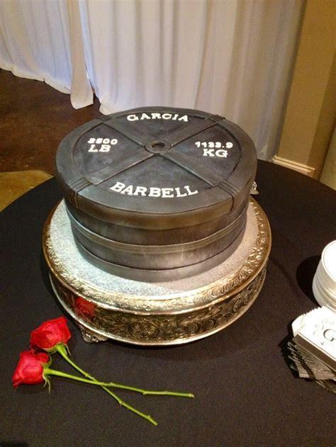 Barbell cake   2011/2 Creations   Pinterest   Groom cake