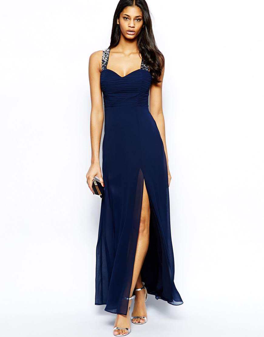 Midi graduation lipsy maxi dress blue kardashian black