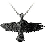Alchemy Gothic Black Raven Pendant