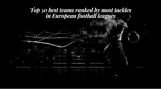 Top 50 best teams ranked by most tackles in European football leagues (Season 2018/19) - 18.11.2018