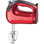 Brentwood HM-46 Hand Mixer - Red