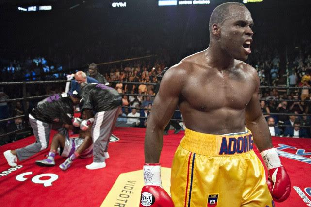Stevenson avait prévenu les amateurs de boxe au... (La Presse Canadienne)