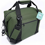 Polar Bear Coolers PB 122 12 Pack Light Nylon Soft Cooler with Strap, Green by VM Express