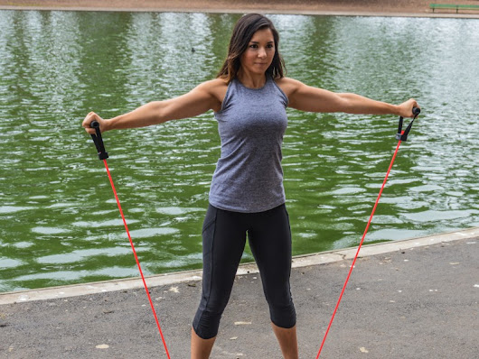 Simple band exercises to strengthen shoulders and upper body