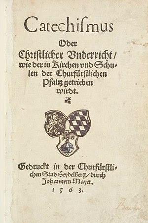 Deutsch: Heidelberger Katechismus, Druck 1563