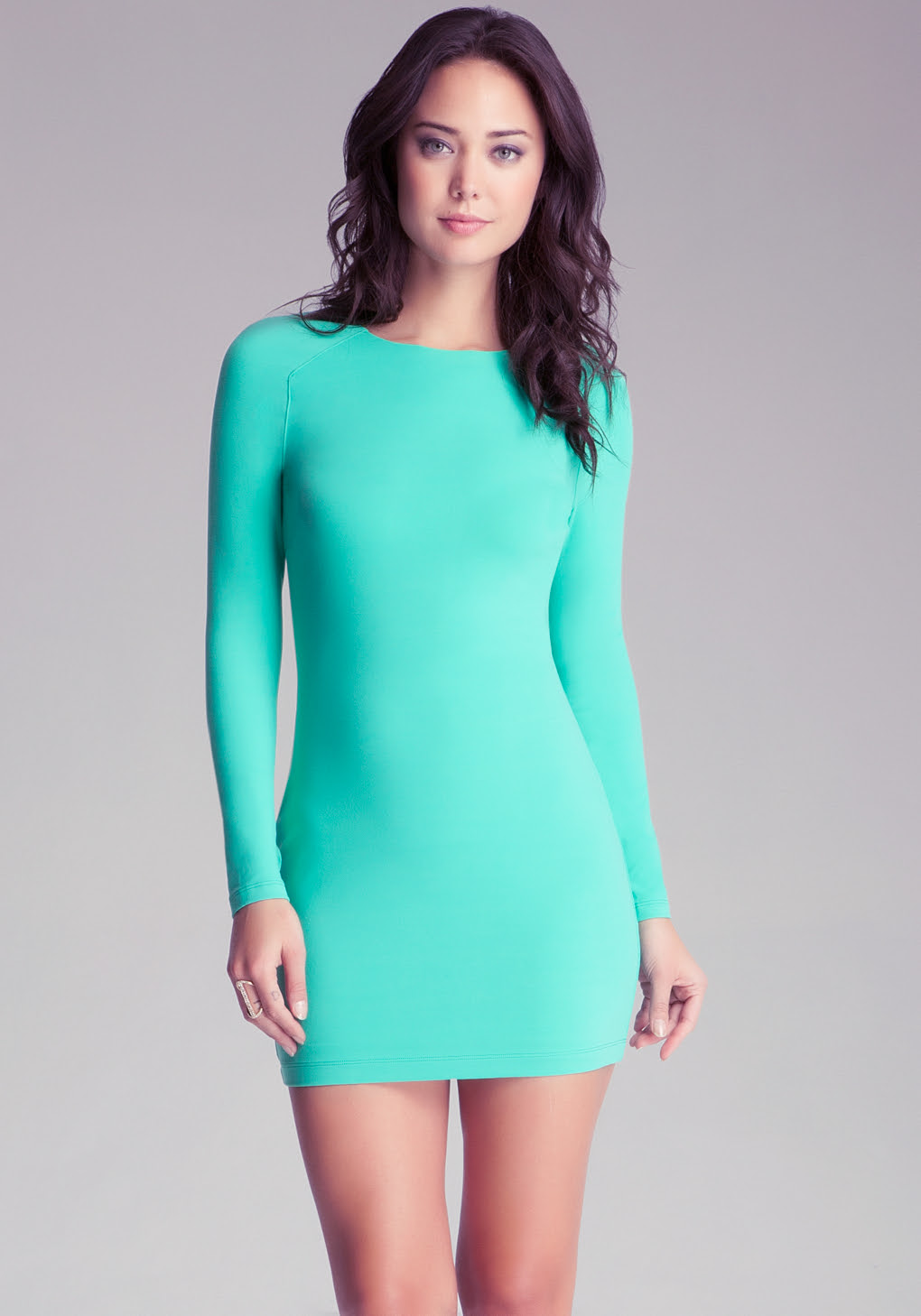 Suppliers dress bodycon green long printed sleeve era david