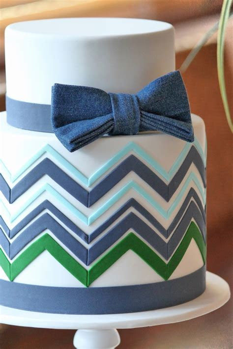 chevron bow tie cake original design by http://www