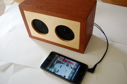 Maple and Mahogany Speaker