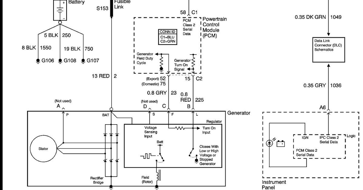 Gm 4 Pin Alternator Wiring Diagram