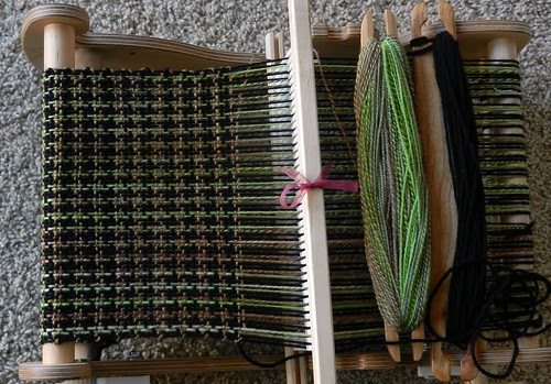 Houndstooth on Loom