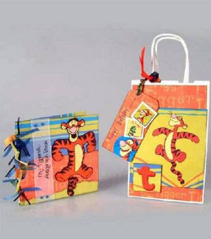 Tiggerific Autograph Book, Gift Bag and Tag