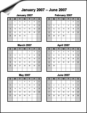 Printable 6 month calendar calendar june 5 best images of 6 month calendar printable printable 2015 6 maxwellsz