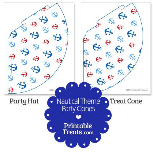 Printable Nautical Party Cones — Printable Treats.com