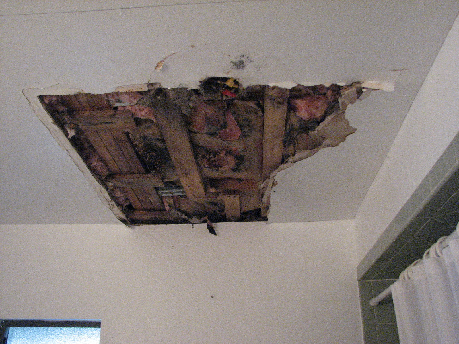 Ceiling Damage From Water Leak
