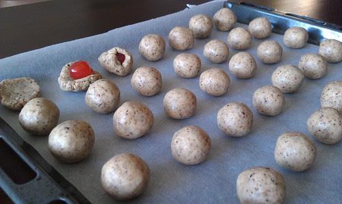Choc cherry hazelnut rum truffles: a family specialty