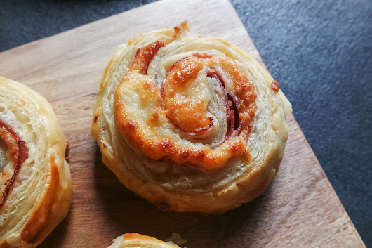 'Pigwheels' with prosciutto, salami & cheese - Jess Pryles