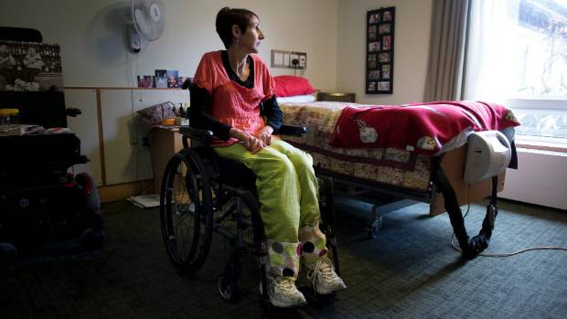 Disabled mother Rachelle McIntyre is only 42, but could spend the remainder of her life in a rest home.